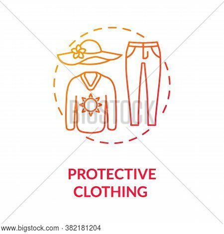 Protective Clothing Concept Icon. Carcinoma. Dermatology. Sun Protection Clothes. Uv Protection. Mel