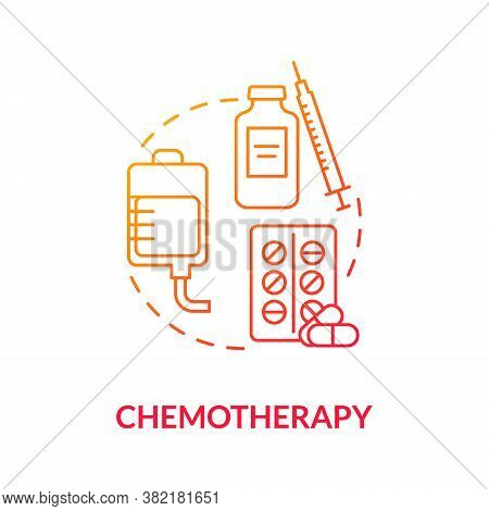 Chemotherapy Concept Icon. Anti Cancer Drugs. Skin Cancer Treatment. Cancerous Tumor. Intravenous Ch