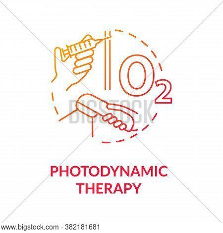 Photodynamic Therapy Concept Icon. Phototherapy. Skin Cancer Treatment. Photosensitizers. Melanoma T