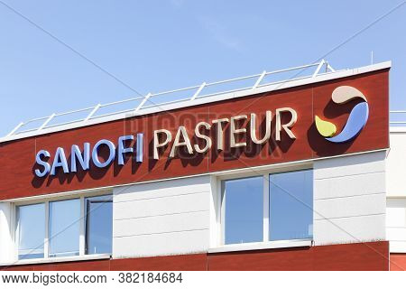 Marcy, France - May 26, 2020: Sanofi Pasteur Building And Office. Sanofi Is A French Multinational P