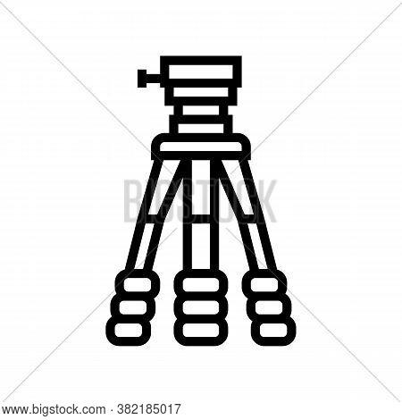 Tripod For Photo Camera Line Icon Vector. Tripod For Photo Camera Sign. Isolated Contour Symbol Blac