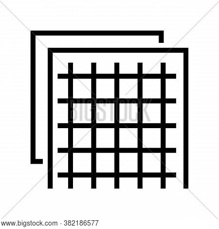 Insulation Grid Line Icon Vector. Insulation Grid Sign. Isolated Contour Symbol Black Illustration