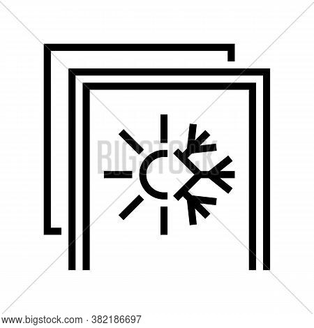 Summer And Winter Insulation Layer Line Icon Vector. Summer And Winter Insulation Layer Sign. Isolat