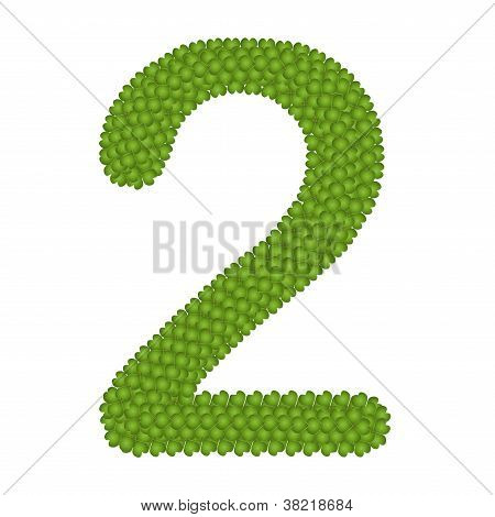 Four Leaf Clover Of Alphabet Numbers 2