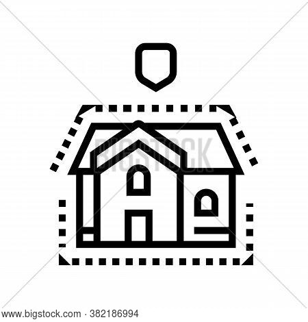 House Insulation Line Icon Vector. House Insulation Sign. Isolated Contour Symbol Black Illustration