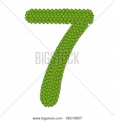 Four Leaf Clover Of Alphabet Numbers 7