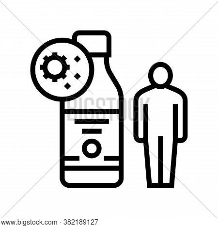 Syrup Health Treatment Line Icon Vector. Syrup Health Treatment Sign. Isolated Contour Symbol Black