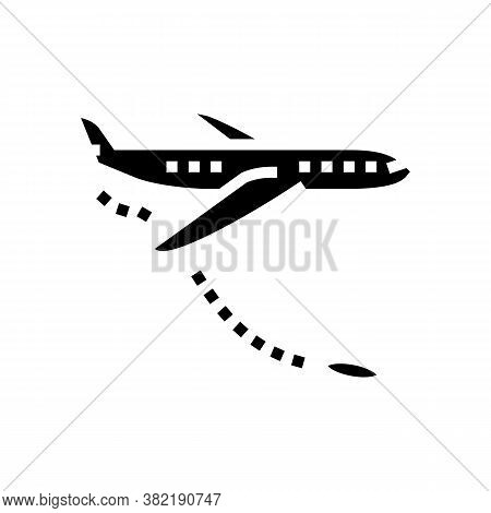 Jump From Airplane Glyph Icon Vector. Jump From Airplane Sign. Isolated Contour Symbol Black Illustr
