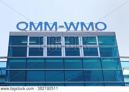 Geneva, Switzerland - October 1, 2017: The Wmo Building In Geneva. The Wmo Is The World Meteorologic