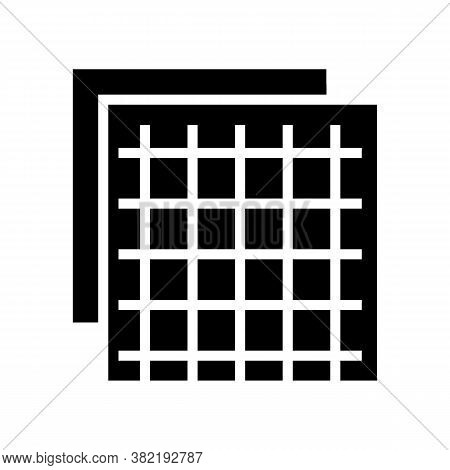 Insulation Grid Glyph Icon Vector. Insulation Grid Sign. Isolated Contour Symbol Black Illustration