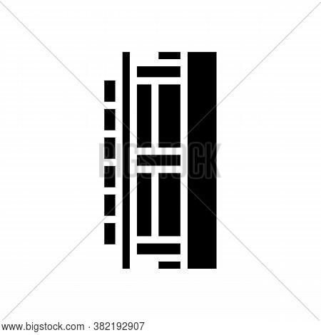 Wall Insulation Layer Glyph Icon Vector. Wall Insulation Layer Sign. Isolated Contour Symbol Black I