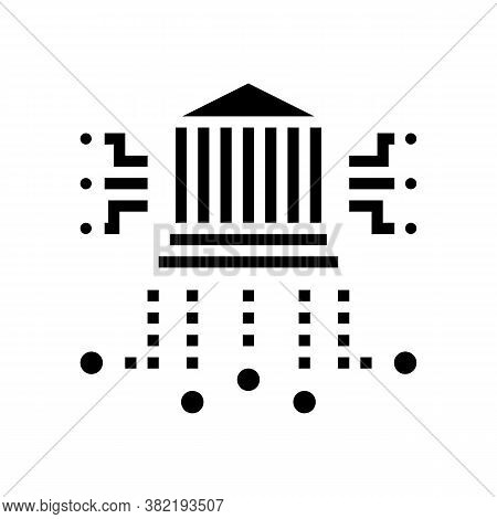 Financial Building Characteristics Glyph Icon Vector. Financial Building Characteristics Sign. Isola