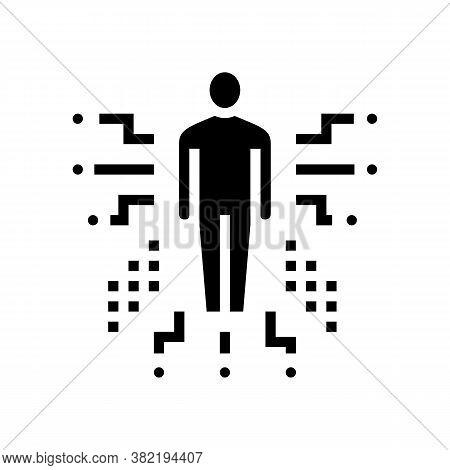 Human Characteristics Glyph Icon Vector. Human Characteristics Sign. Isolated Contour Symbol Black I