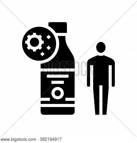 Syrup Health Treatment Glyph Icon Vector. Syrup Health Treatment Sign. Isolated Contour Symbol Black