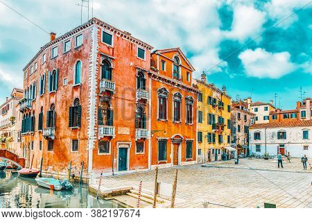 Venice, Italy - May 12, 2017 : View Of One Of The Most Beautiful Cities In The World - Venice, The C