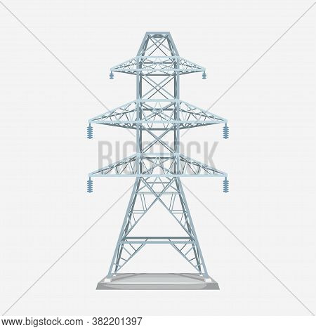 Modern Grey Electric Tower Isolated On White