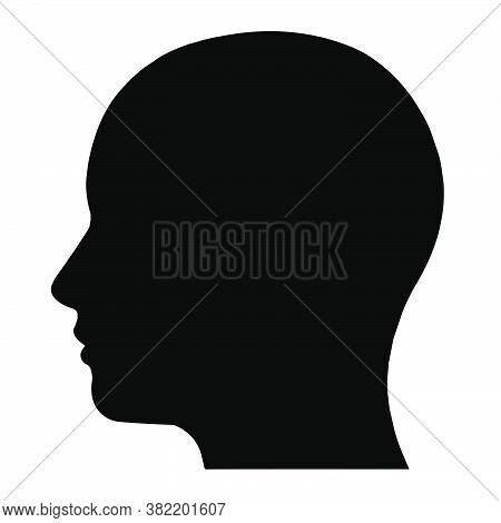 Head Icon. Illustration Of People's Heads. Silhouette Of The Head In A Flat Style. Medical Icon