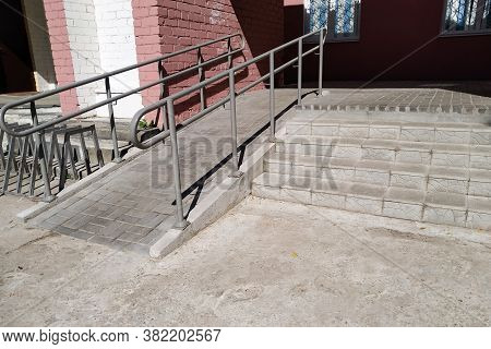 Steps And Ramp At Entrance To Building