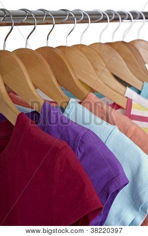 T Shirts On Cloth Hangers