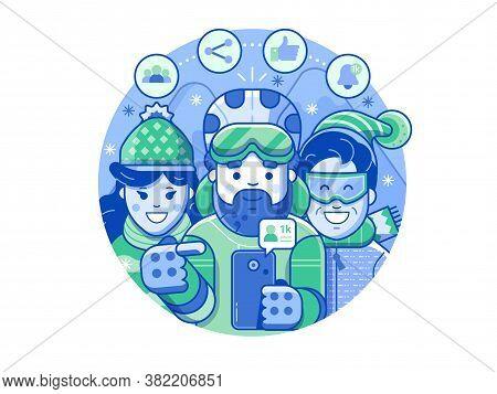Get Thousand Followers On Socials Winter Concept