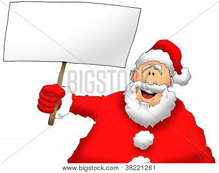 Santa With a Sign