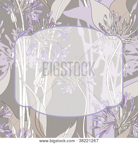 Graphic Flowers Frame