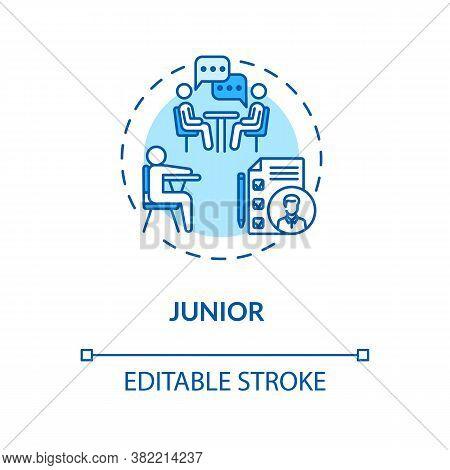 Junior Turquoise Concept Icon. Student Tutoring. University Class Period. High School Attendant. Col