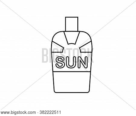 Isolated Sunblock Camping Implements Emoji Icon - Vector