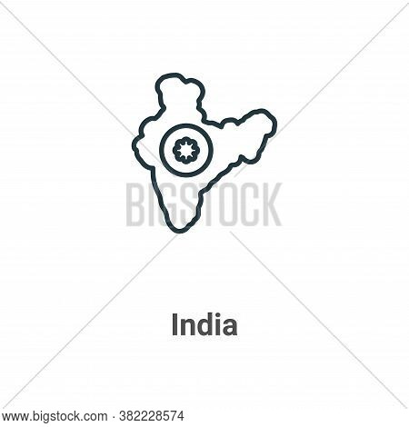 India icon isolated on white background from india collection. India icon trendy and modern India sy