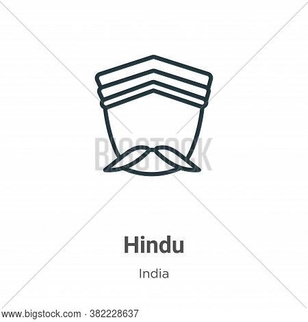 Hindu icon isolated on white background from india collection. Hindu icon trendy and modern Hindu sy