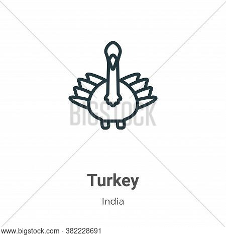 Turkey icon isolated on white background from india collection. Turkey icon trendy and modern Turkey