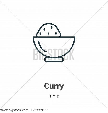 Curry icon isolated on white background from india collection. Curry icon trendy and modern Curry sy