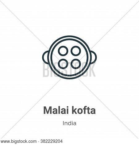 Malai kofta icon isolated on white background from india collection. Malai kofta icon trendy and mod
