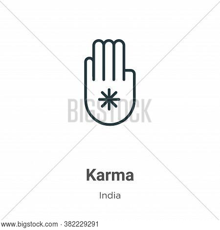 Karma icon isolated on white background from india collection. Karma icon trendy and modern Karma sy