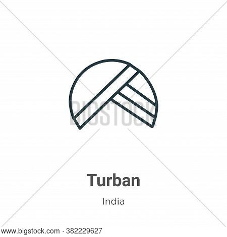 Turban icon isolated on white background from india collection. Turban icon trendy and modern Turban