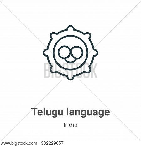 Telugu language icon isolated on white background from india collection. Telugu language icon trendy