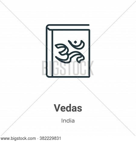 Vedas icon isolated on white background from india collection. Vedas icon trendy and modern Vedas sy