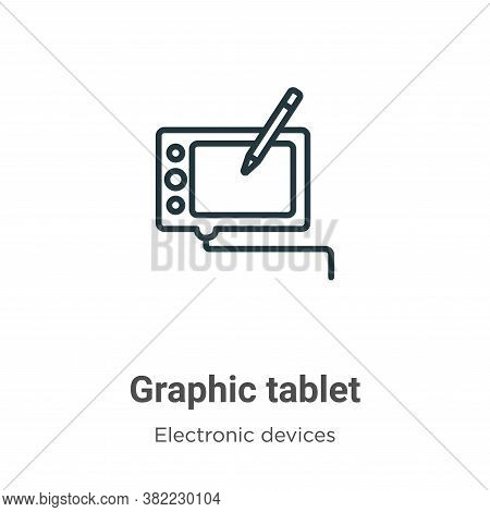 Graphic tablet icon isolated on white background from electronic devices collection. Graphic tablet