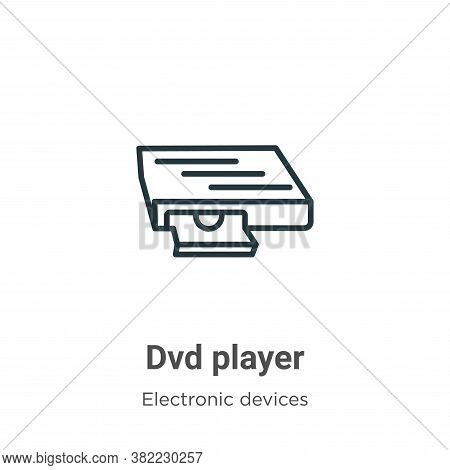 Dvd player icon isolated on white background from electronic devices collection. Dvd player icon tre