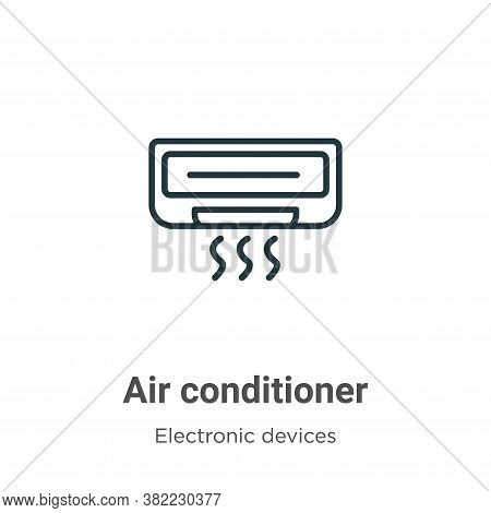 Air conditioner icon isolated on white background from electronic devices collection. Air conditione