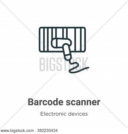 Barcode scanner icon isolated on white background from electronic devices collection. Barcode scanne