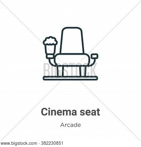 Cinema seat icon isolated on white background from entertainment collection. Cinema seat icon trendy