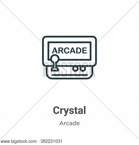 Crystal icon isolated on white background from arcade collection. Crystal icon trendy and modern Cry