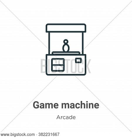 Game machine icon isolated on white background from arcade collection. Game machine icon trendy and