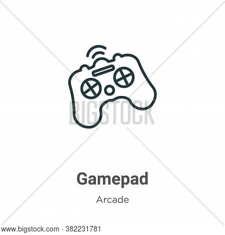 Gamepad icon isolated on white background from arcade collection. Gamepad icon trendy and modern Gam