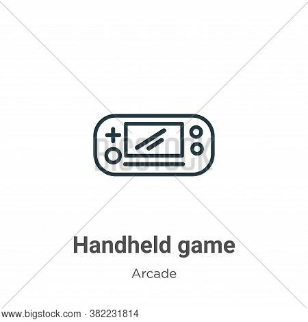 Handheld game icon isolated on white background from entertainment collection. Handheld game icon tr