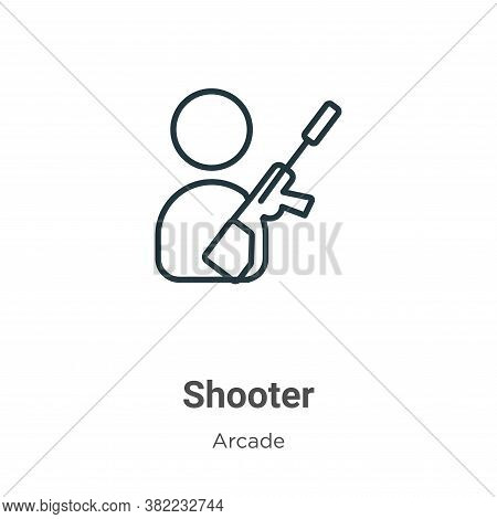 Shooter icon isolated on white background from arcade collection. Shooter icon trendy and modern Sho