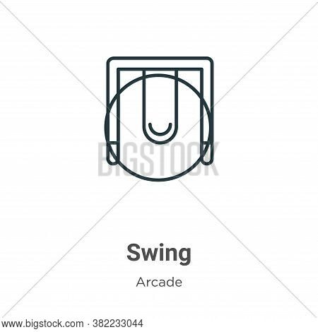 Swing icon isolated on white background from entertainment collection. Swing icon trendy and modern