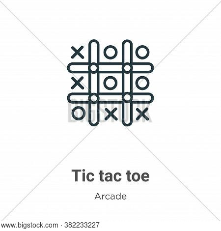 Tic tac toe icon isolated on white background from entertainment collection. Tic tac toe icon trendy