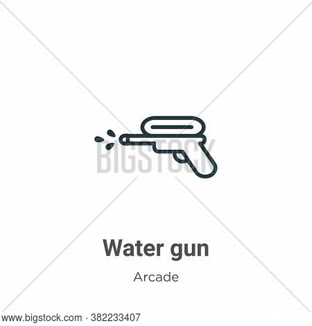 Water gun icon isolated on white background from entertainment collection. Water gun icon trendy and